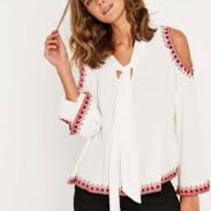 Pins and Needles Cold Shoulder top
